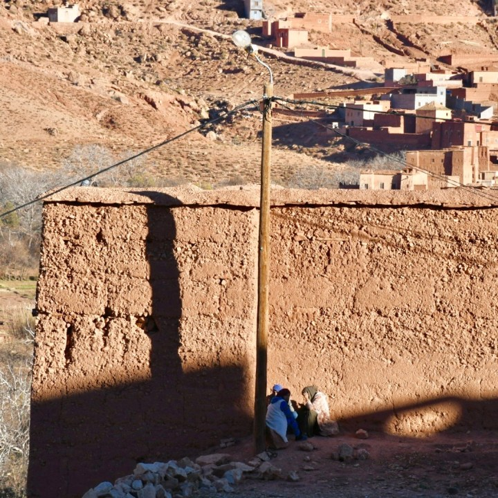 Morocco with kids atlas mountains local women
