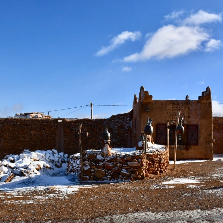 Morocco with kids draa valley desert snow