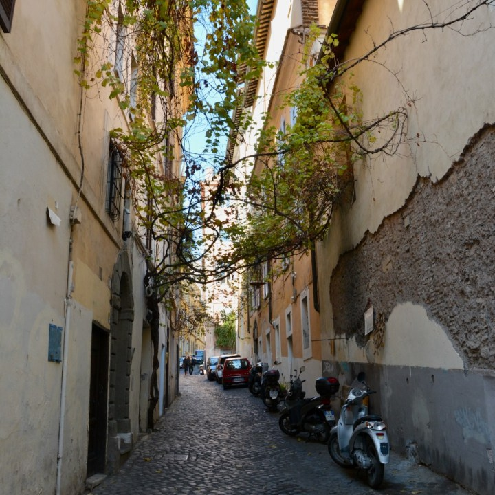 Rome with kids side street