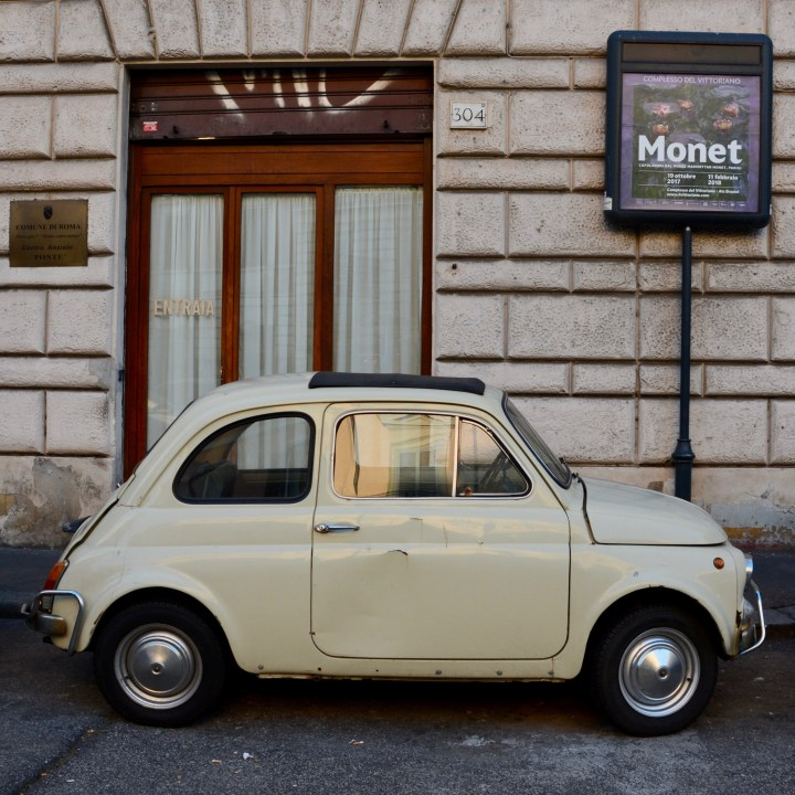 Rome with kids vintage Fiat 500