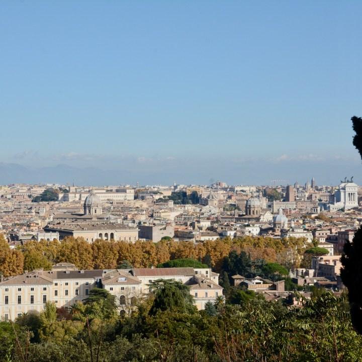 Rome with kids city views