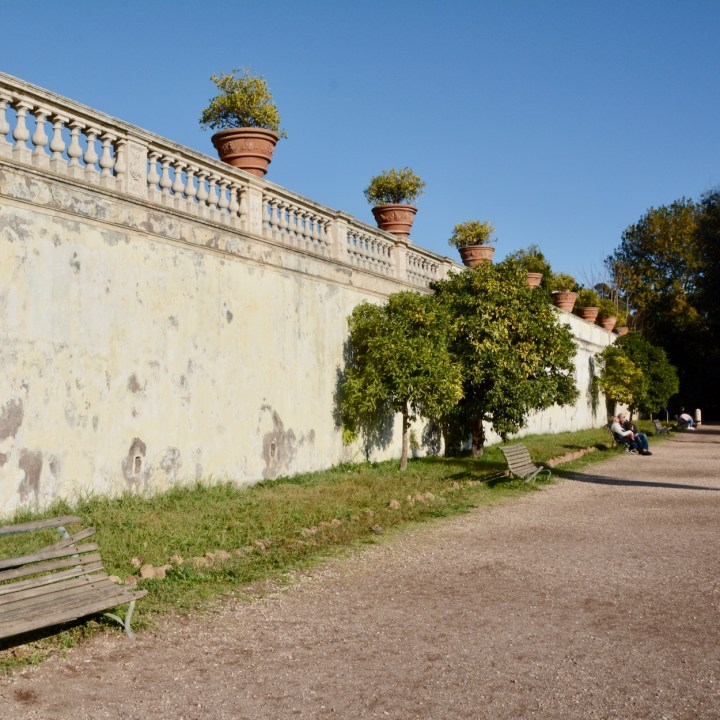 Rome with kids park scenery