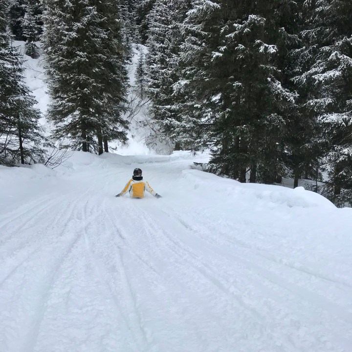seiser alm skiing with kids snowboard race