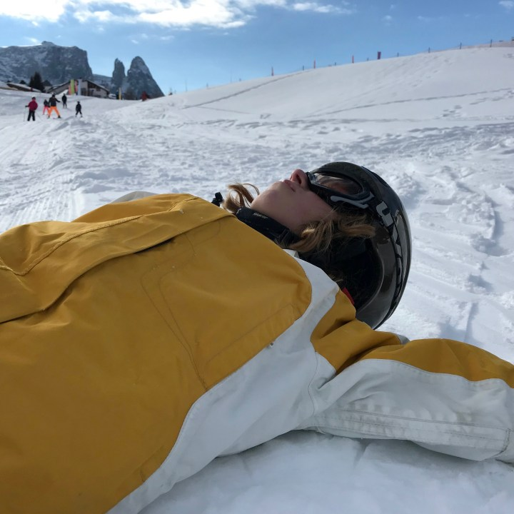 seiser alm skiing with kids frustration