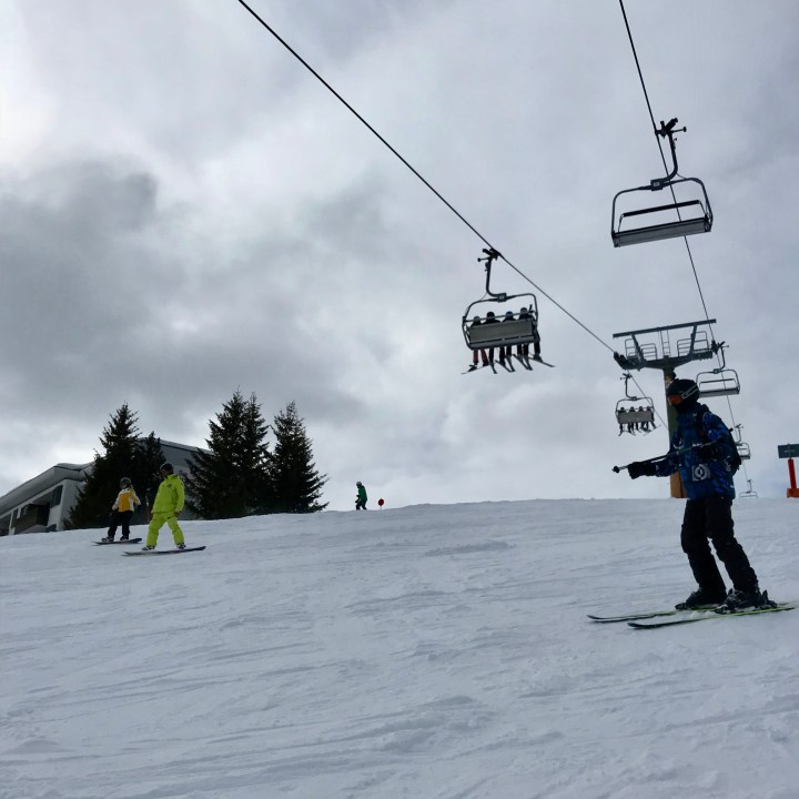 seiser alm skiing with kids snowboard lessons