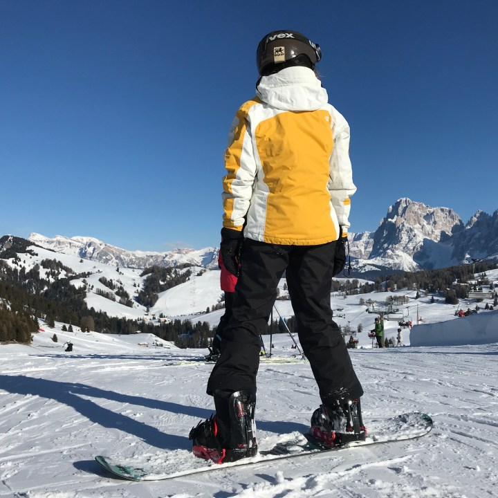 seiser alm skiing with kids off again