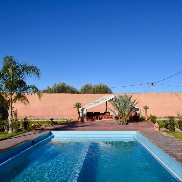 Morocco with kids Villa Touka pool