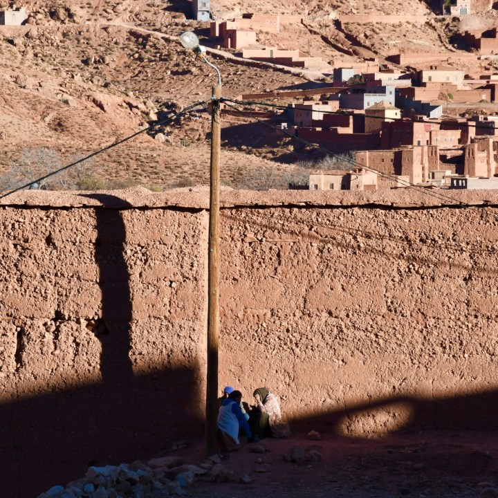Morocco with kids telouet local women