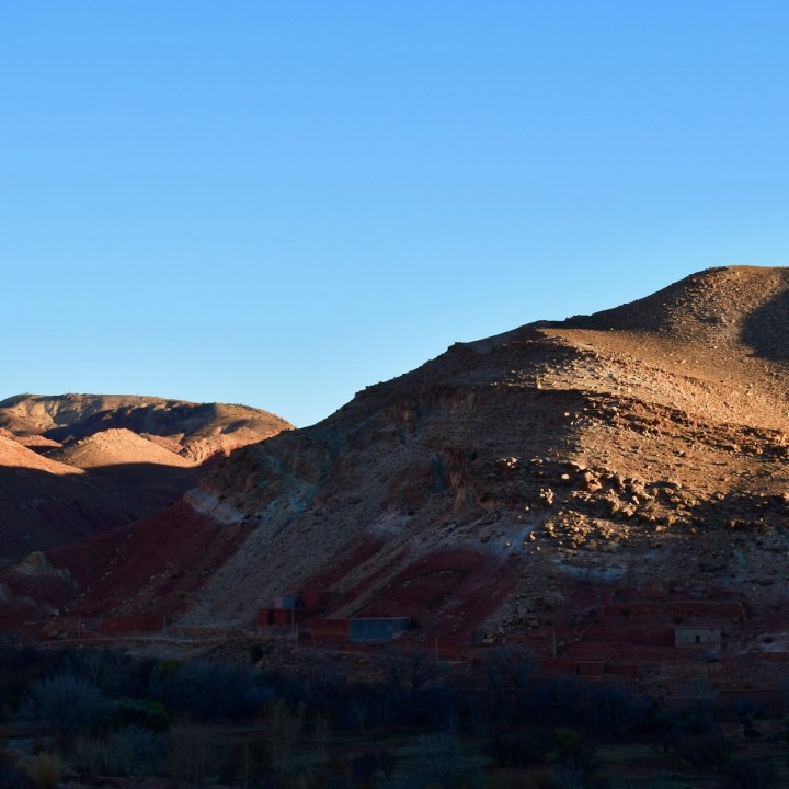 Morocco with kids glowing mountains