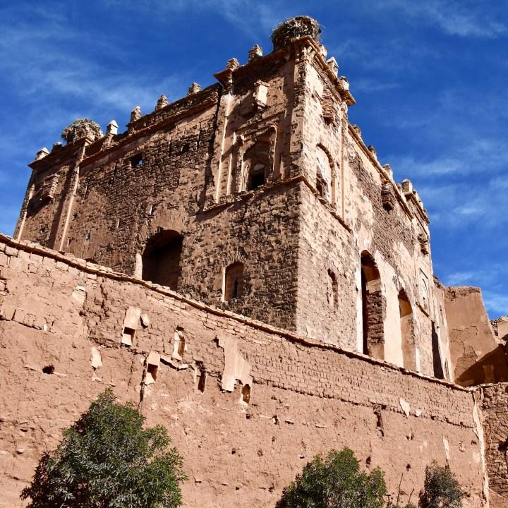 Morocco with kids Telouet crumbling kasbah
