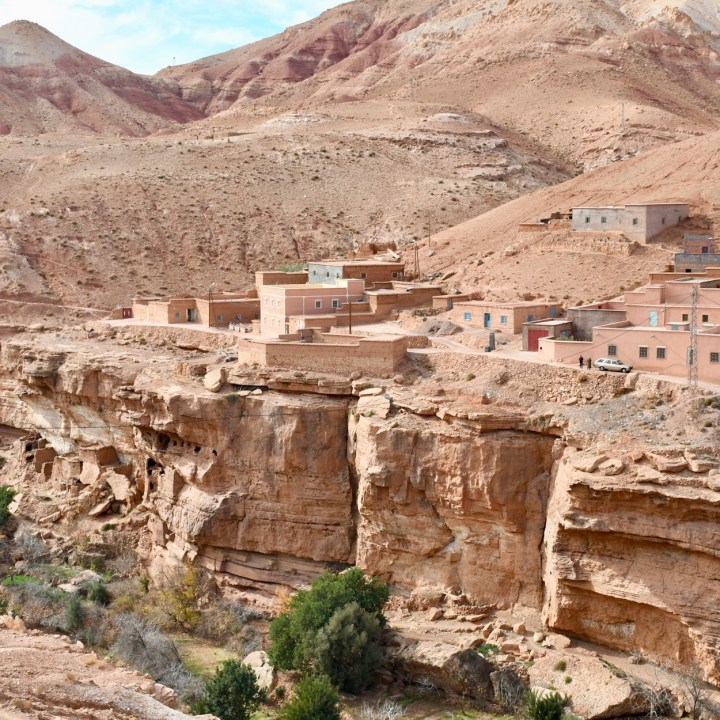 morocco with kids ounilla valley cave house views