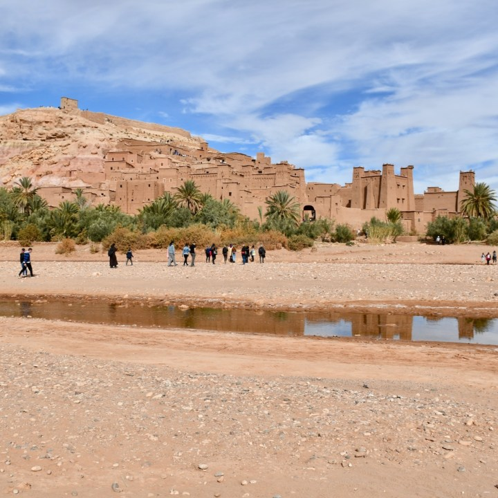 Ait Benhaddou with kids Morocco ksar