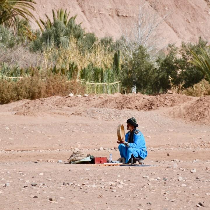 Ait Benhaddou with kids Morocco snake charmer