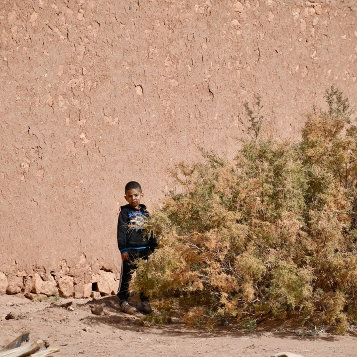 Ait Benhaddou with kids Morocco local boy