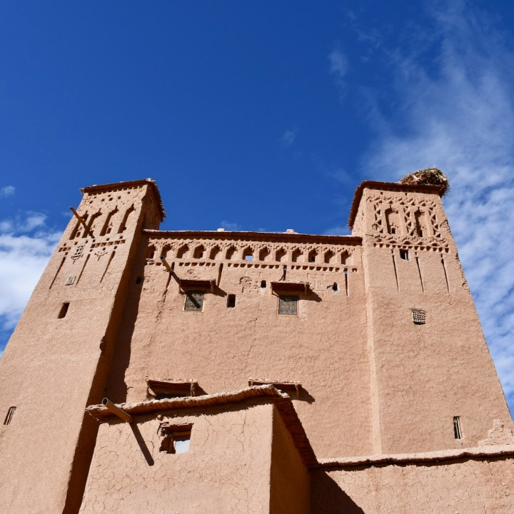 Ait Benhaddou with kids Morocco kasbah