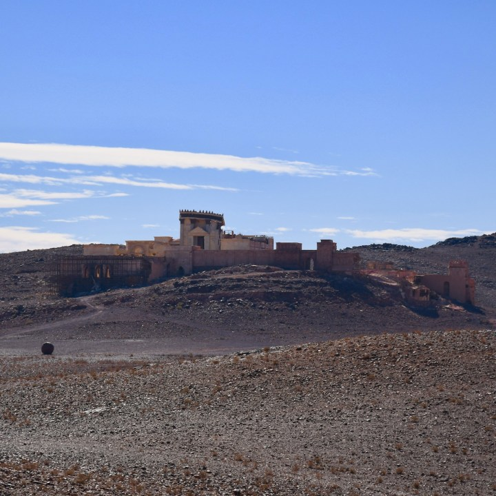 Ouarzazate Morocco with kids abandoned filmset view