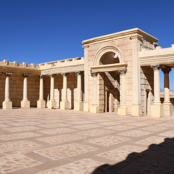 Ouarzazate Morocco with kids abandoned filmset palace