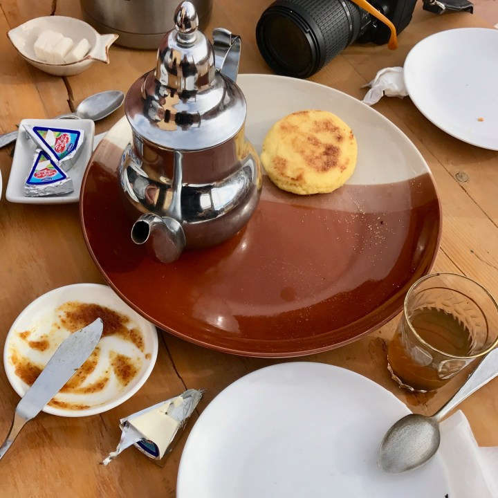 Morocco with kids Telouet mint tea