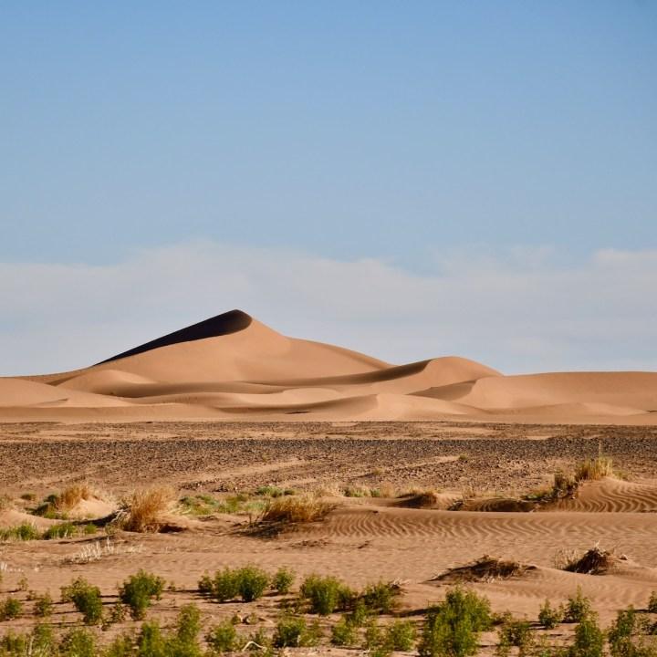 sahara desert erg chigaga with kids dunes