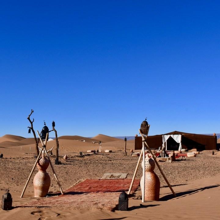 sahara desert erg chigaga with kids main tent