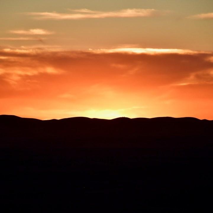 La Kahena luxury camp Erg Chigaga Sahara sky on fire