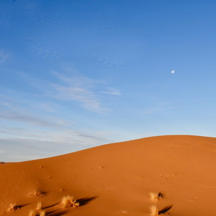 La Kahena luxury camp Erg Chigaga Sahara moon