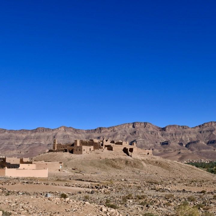 Morocco with kids drive M'Hamaid crumbling kasbah