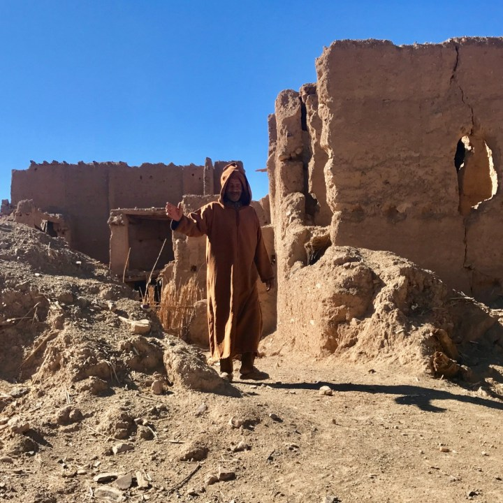 Agdz Morocco with kids draa valley hike local man