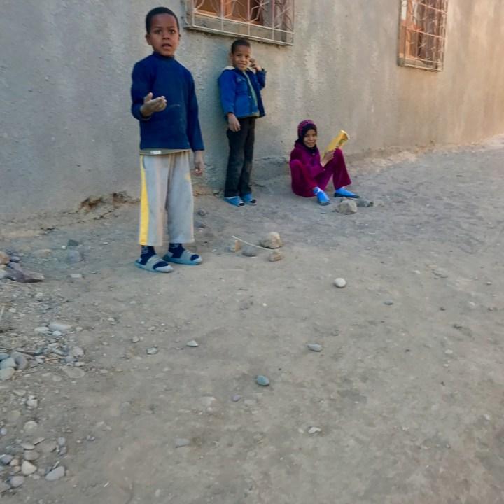 Agdz Morocco with kids draa valley hike local kids