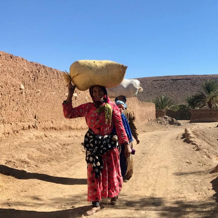 Agdz Morocco with kids draa valley hike local women