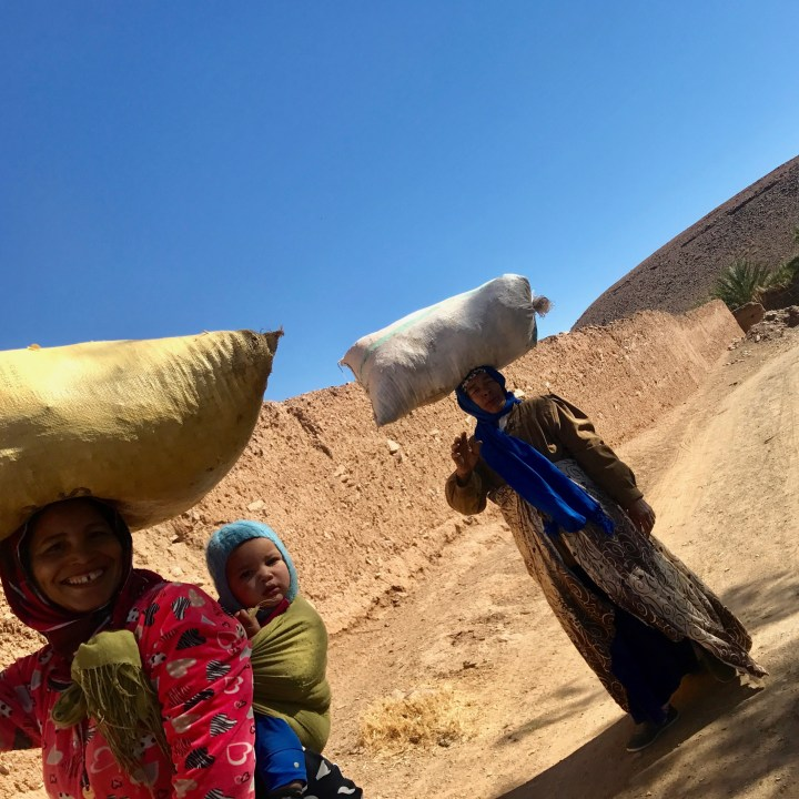 Agdz Morocco with kids draa valley hike smile