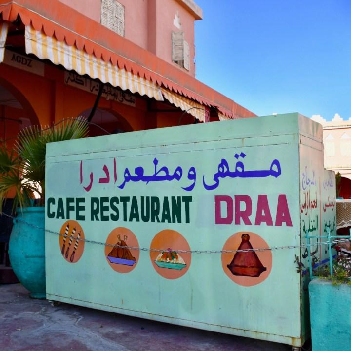 agdz with kids Morocco restaurant draa