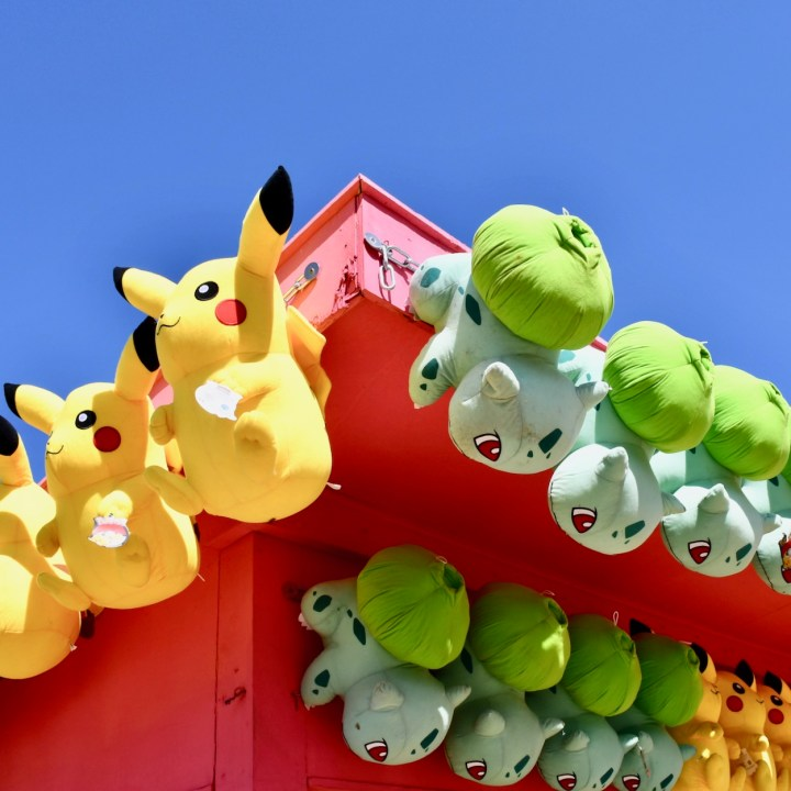 Margate Dreamland with kids pokemon
