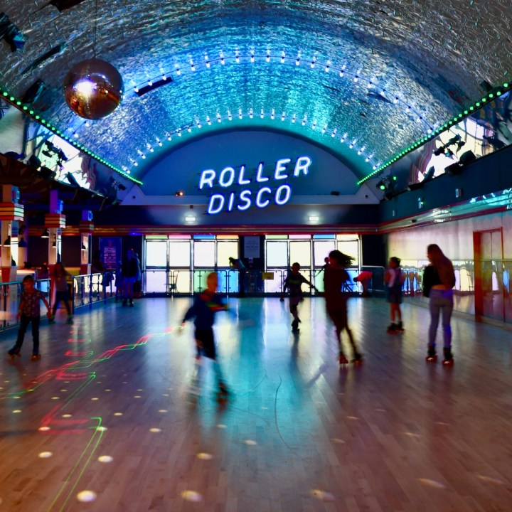 Margate Dreamland with kids roller disco