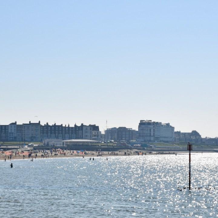Margate Dreamland with kids glitter sea
