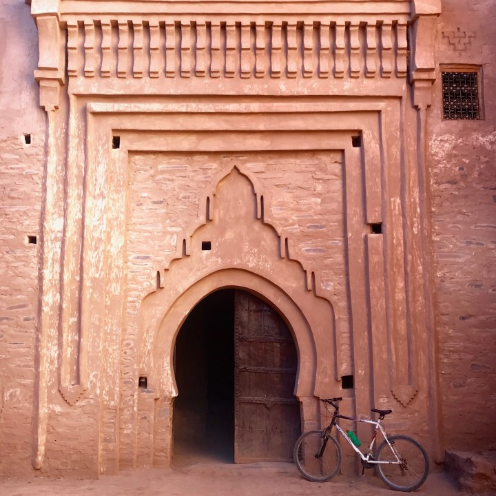 kasbah caids with kids Morocco entrance