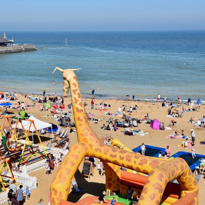 Broadstairs with kids bouncy castle