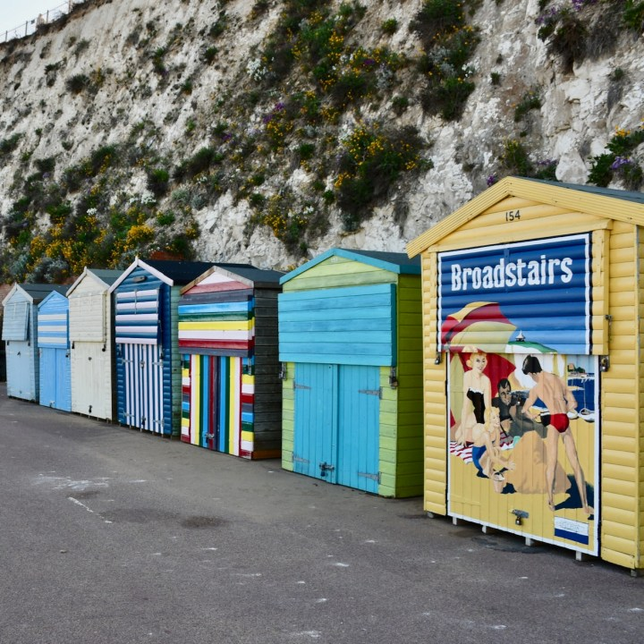 british seaside with kids broadstairs colourful beach huts