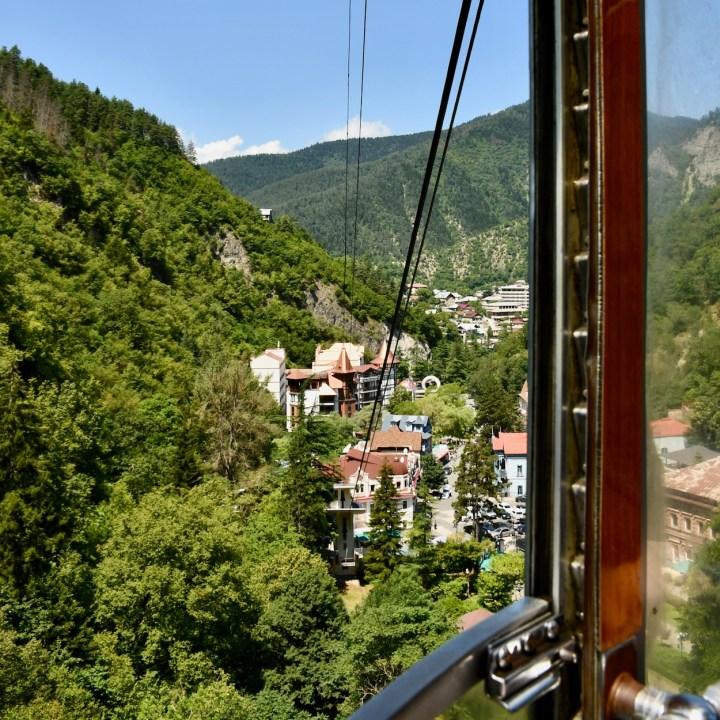 Exploring Georgia with kidsBorjomi cable car