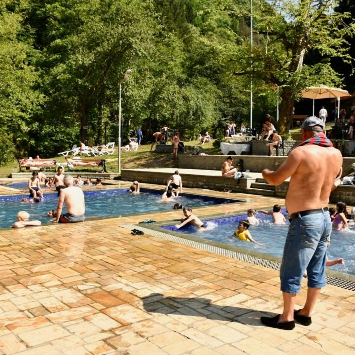 Exploring Georgia with kids borjomi Thermal spa
