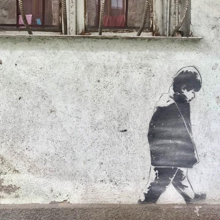 family travel with kids Georgia street art