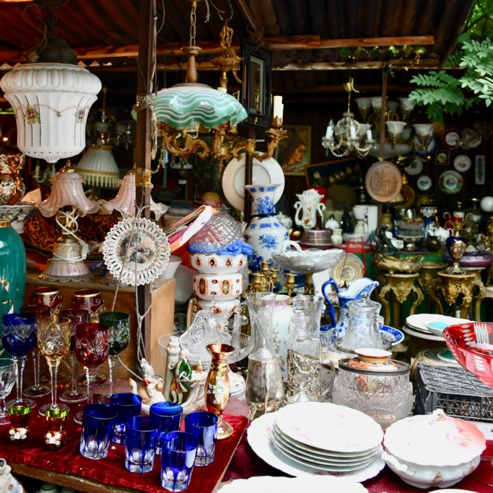 Tbilisi with kids Dry Bridge Market vintage china