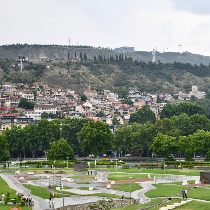 Tbilisi with children old town view