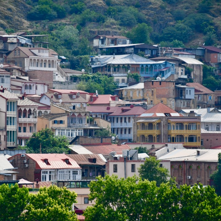 Tbilisi with children old town houses