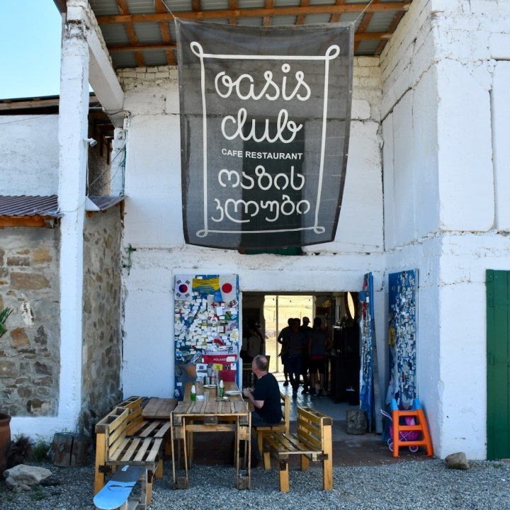 David Gareji Monastery with kids oasis club cafe restaurant