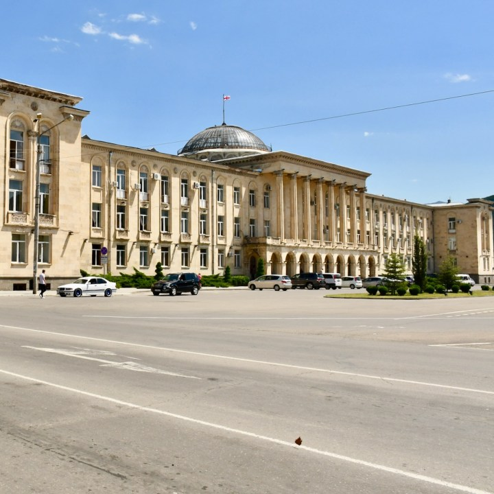 Gori Stalin Museum with kids government building