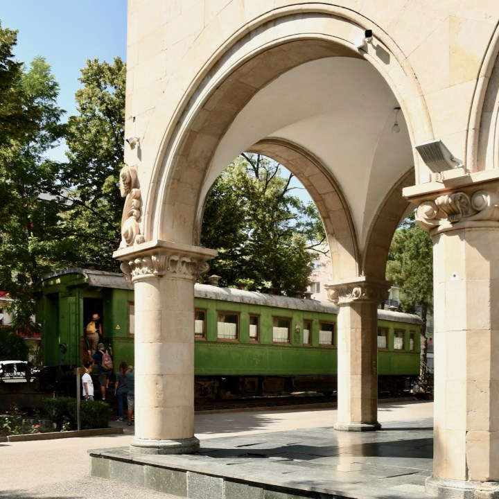 Gori Stalin Museum with kids train carriage
