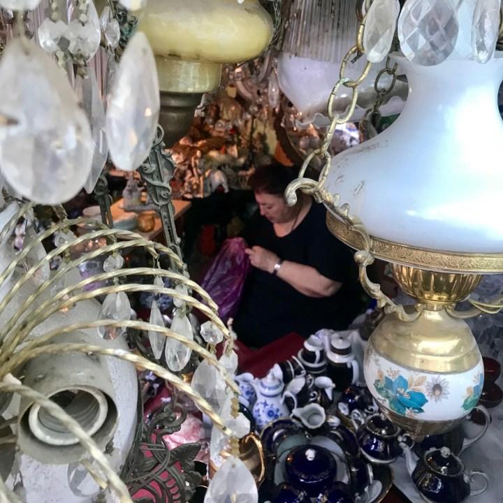 Tbilisi with kids Dry Bridge Market inbetween