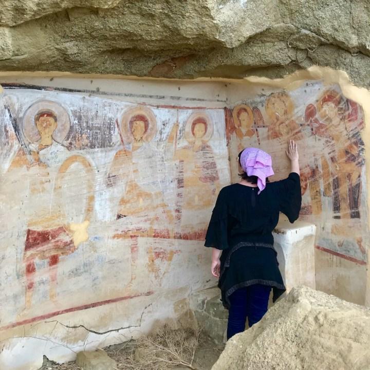David Gareji Monastery with kids prayers