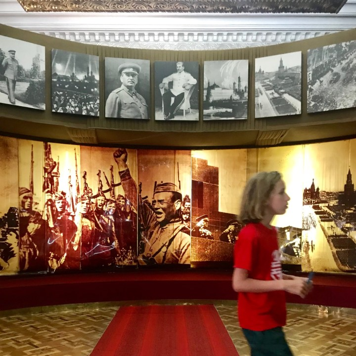 Gori Stalin Museum with kids war photos